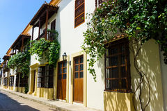 Street in Colonial Cartagena Stock Photo