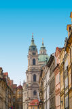 Street with colorful houses, Prague Royalty Free Stock Image