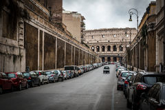 Street for colosseum in Rome Stock Images