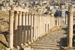 Street of Columns in Jerash, Jordan Stock Images
