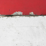 Street Concrete traffic barrier in red and white Stock Photography