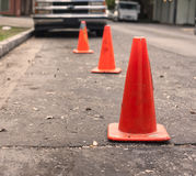 Street cones Stock Photos
