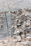 Street construction site - paving Stock Image