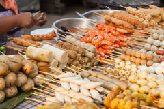 Street cook shop in Bangkok Royalty Free Stock Images