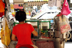 Street cooker stand in Malacca Royalty Free Stock Photos