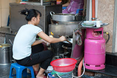 Street cooking Stock Photography