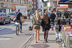 In the street Copenhagen Stock Image