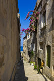 Street at Corcula, Croatia Royalty Free Stock Photography