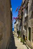 Street at Corcula, Croatia Royalty Free Stock Photography