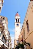 Street in Corfu, Greece. View of the street in Corfu, the island of Corfu in Greece Stock Photo