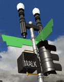 Street Corner. Corner street light post with blank street name signs royalty free illustration