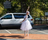 Street Corner Ballerina Royalty Free Stock Photo