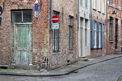 A street corner in Bruges Stock Image