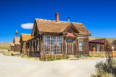 Street Corner in California Ghost Town Stock Image