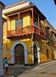 Street Corner, Cartagena de las Indias Stock Photography