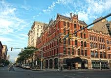 Street corner. In downtown syracuse, new york Royalty Free Stock Image