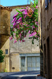 A street corner in the historical centre of Pezenas, Languedoc, France Stock Images