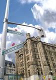 Street Corner of Rideau and Sussex, Ottawa,Canada. The corner of Rideau and Sussex in Ottawa, Ontario,Canada. Half a block from the parliament buildings and at royalty free stock photos