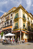 A Street Corner in Seville Royalty Free Stock Images