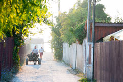 Street in the countryside royalty free stock images