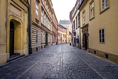 Street in Cracow's old town Stock Photos