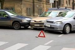 Street crash Stock Photo