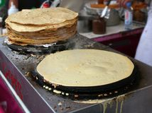 Street Crepes stock images