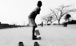 Street cricket in Bangladesh Royalty Free Stock Photography