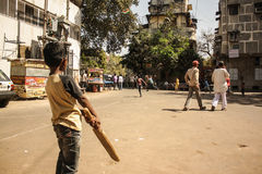 Street Cricket Stock Image