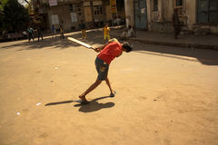 Street Cricket Royalty Free Stock Photo