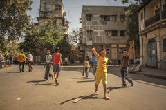 Street Cricket Royalty Free Stock Images