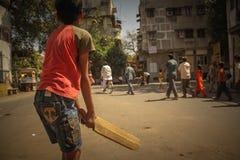 Street Cricket Stock Photo