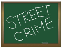 Street crime concept. Royalty Free Stock Photos