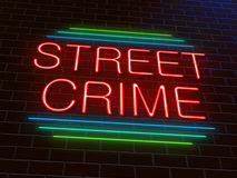 Street crime concept. Royalty Free Stock Photo