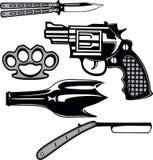 Street crime tools set Stock Photo