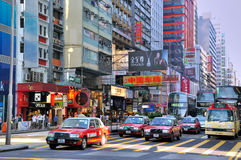 Street cross traffic in Hongkong Stock Photography