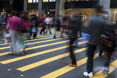 Street Crossing in Hong Kong Stock Photos