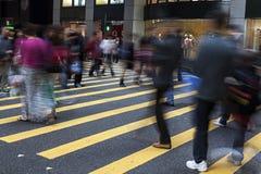 Street Crossing in Hong Kong. Busy Crossing Street in Hong Kong, China Stock Photos