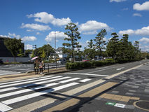 Street crossing in Kyoto Royalty Free Stock Photo