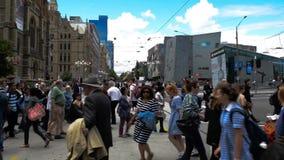 Street crossing, Melbourne, Victoria, Australia stock video
