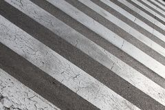 Street crossing (zebra) Royalty Free Stock Images