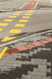 Street crossroad markings Stock Photography