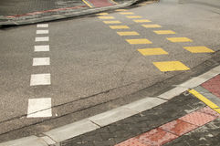 Street crossroad markings Royalty Free Stock Photography
