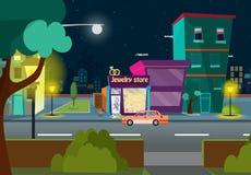 Street crossroad of traffic lane and pedestrian crossing or crosswalk Free Vector royalty free stock photo