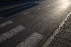 Street and crosswalk. Street in the city and the crosswalk Stock Images