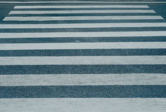 The street and crosswalk. Without people and cars driving pass, that`s feel lonely Royalty Free Stock Photo