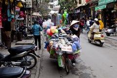 Street culture in Hanoi, Vietnam Royalty Free Stock Photography
