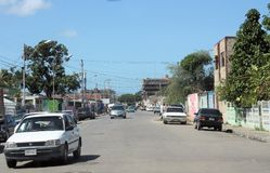 Typical street in the Cumana city stock photography