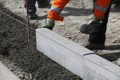 Street Curb Construction Royalty Free Stock Image