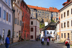 Street of Czech Krumlov Stock Photography